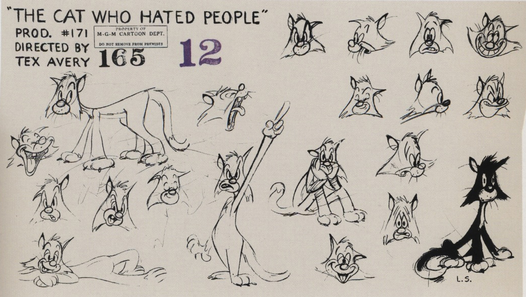 Model Sheets Tex Avery The Mgm Years 1942 1955 Gt Various